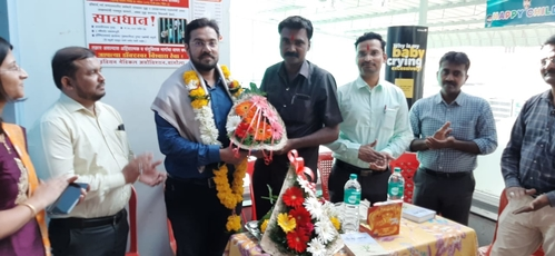 Dr. Mahesh Sale felicitated at Dr. Jankar Hospital, Sangola|ADITYA RAINBOW HOSPITAL|Sangli Miraj Road,Sangli